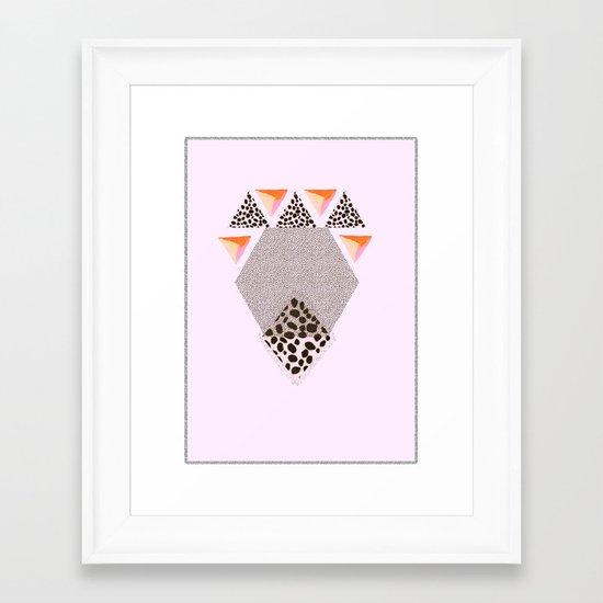 LEOPARD DIAMOND Framed Art Print