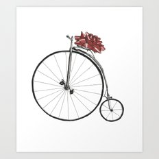 Christmas Bicycle Art Print