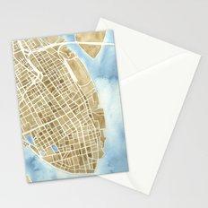 Charleston, South Carolina City Map Art Print Stationery Cards