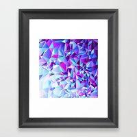 PURPLE+TEAL Framed Art Print