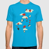 We Can Fly! Mens Fitted Tee Teal SMALL
