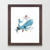 Sperm Whale Tornado Pira… Framed Art Print