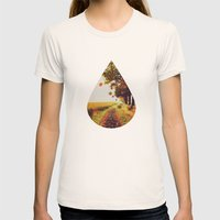 Autumn tree. Womens Fitted Tee Natural SMALL