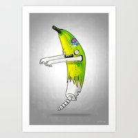 Banana Zombie Art Print