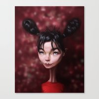 Caricature For A Bjork Canvas Print