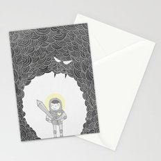 Brave Grey Warrior Stationery Cards