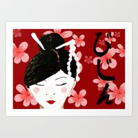 Japanese Beauty Art Print
