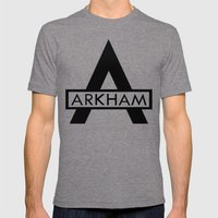 Arkham Mens Fitted Tee Tri-Grey SMALL