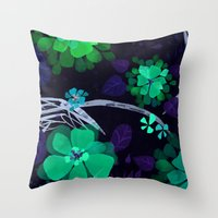 Flora Queen Throw Pillow
