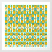 Summer Geometry Art Print