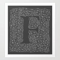 Light Letter F Art Print