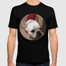 Sweet George a French Bulldog Black SMALL Mens Fitted Tee