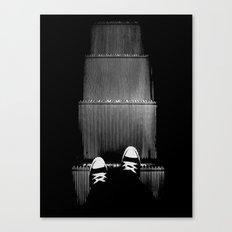 Up The Down Escalator Canvas Print