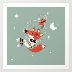 Space Fox Art Print