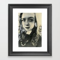 Megan (Mordancage) Framed Art Print
