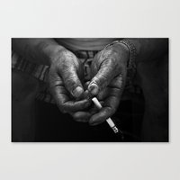 A Portrait Of Tired Hand… Canvas Print