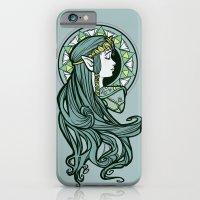 iPhone Cases featuring Zelda Nouveau by Karen Hallion Illustrations