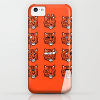 iPhone 5c Cases featuring Eyes Of The Tiger by Stuart Colebrook
