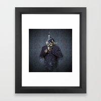 Mister Blue Framed Art Print