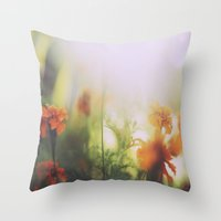 Marigolds in Ubud Throw Pillow
