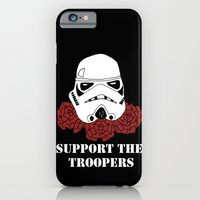 iPhone & iPod Case featuring Support the Troopers by Bare Wolfe