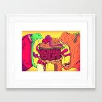 CHOMP! Framed Art Print