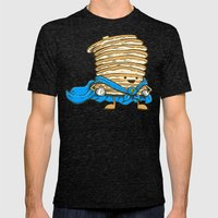 Captain Pancake Mens Fitted Tee Tri-Black SMALL