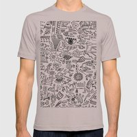 Scattered Mens Fitted Tee Cinder SMALL