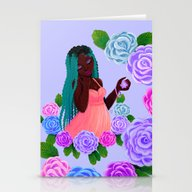 Stationery Cards featuring Turquoise Twists by KattyB