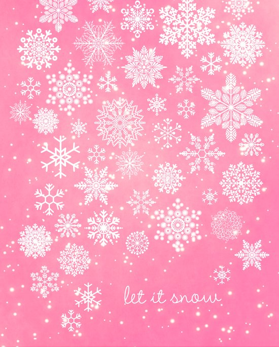 Let it snow - Let it snow - Let it snow Art Print
