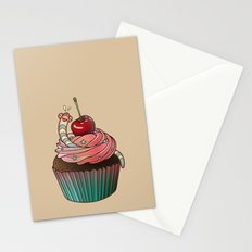 SWEET WORMS 1 - cupcake Stationery Cards