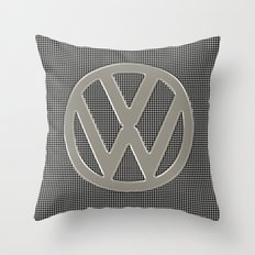 VW Silver Grill Throw Pillow