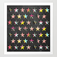 Dancing Stars Art Print