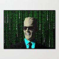 max meets matrix Canvas Print