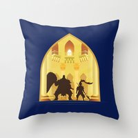 Ornstein and Smough (Dark Souls) Throw Pillow