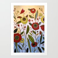 Abstract Floral Art ... … Art Print