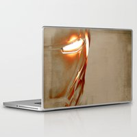 iron man Laptop & iPad Skins featuring Iron Man by Fernando Vieira