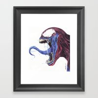Venom Turned Spider Man Framed Art Print