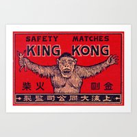 King Kong - Matchbox Art Print