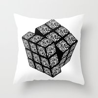 qr cube Throw Pillow