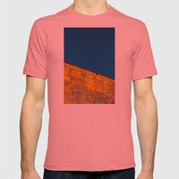 yellow-blue Mens Fitted Tee Pomegranate SMALL