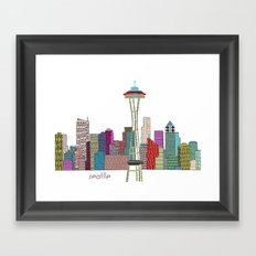 Seattle City  Framed Art Print