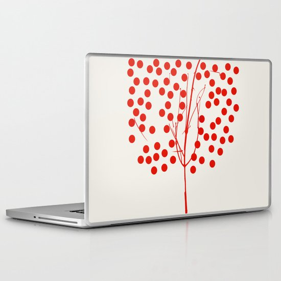 Tree of Life Red Laptop & iPad Skin