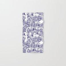 Doctor Who Toile de Jouy   'Walking Doodle'   Blue Hand & Bath Towel