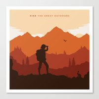 Hike The Great Outdoors Canvas Print