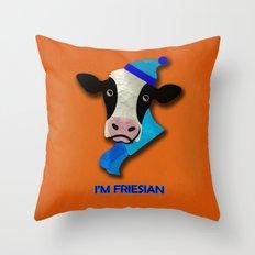 I'm Friesian Throw Pillow