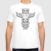 Grim Totem: A Forked Ton… Mens Fitted Tee White SMALL