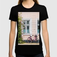 Bicycle. Womens Fitted Tee Black SMALL
