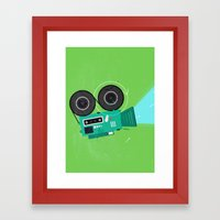 Video Framed Art Print