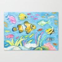 Crayon Fish #3 Canvas Print